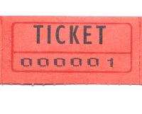Biglietto rosso numerato uno Immagini Stock
