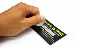 Biglietto sfortunato del graffio fotografia stock libera da diritti
