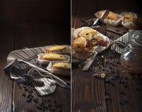 Bigné con le gocce di cioccolato Fotografia Stock Libera da Diritti