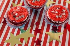 Bigné decorati con il tema del 4 luglio Fotografia Stock