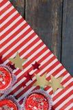 Bigné decorati con il tema del 4 luglio Immagini Stock
