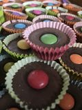 Bigné del cioccolato Immagine Stock
