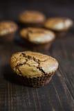 Bigné del cioccolato con la forcella Immagini Stock Libere da Diritti