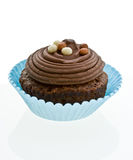 Bigné del cioccolato di Swirly su bianco. Immagini Stock Libere da Diritti