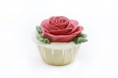 Bigné della rosa rossa Fotografie Stock Libere da Diritti