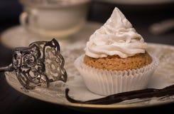 Bigné della vaniglia del vegano con la guarnizione della vaniglia dei Cocos Immagine Stock Libera da Diritti