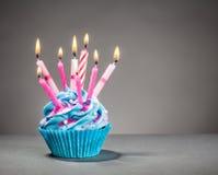 Bigné di compleanno Fotografia Stock