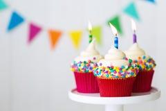 Bigné di compleanno Fotografie Stock