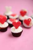 Bigné di giorno di biglietti di S. Valentino Fotografia Stock Libera da Diritti