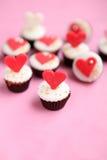 Bigné di giorno di biglietti di S. Valentino Fotografie Stock Libere da Diritti