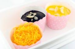 Bigné e sapore dell'arancia dolce. Immagine Stock Libera da Diritti