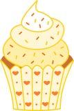 Bigné giallo dolce adorabile Fotografia Stock Libera da Diritti