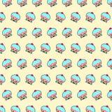 Bigné - modello 02 di emoji illustrazione vettoriale