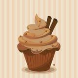 Bigné del cioccolato con la forcella Fotografia Stock