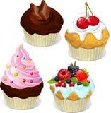 Bigné e muffin Fotografia Stock
