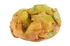 Bigne die met room van de gebakje de Groene thee wordt gevuld Royalty-vrije Stock Fotografie