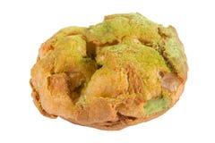 Bigne ha farcito con la crema del tè verde della pasticceria Fotografia Stock Libera da Diritti