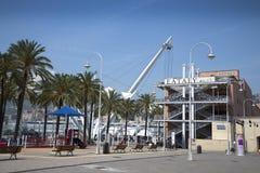 Bigo是一个重要机遇得到旧港口的鸟眼睛视图,当得知Genoa's历史时 图库摄影
