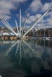 The Bigo in Ancient Harbour of Genoa Royalty Free Stock Photos