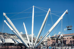 The Bigo in the port of Genoa, Italy Royalty Free Stock Photo