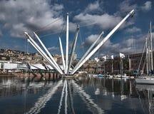 Bigo in the port of Genoa Italy Royalty Free Stock Image