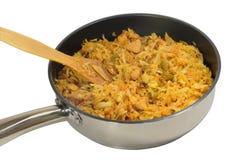 Bigos in a frying pan Stock Image