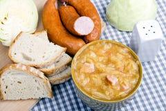 Bigos, Polish sauerkraut and sausage stew Stock Image