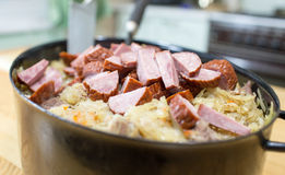 Bigos traditional Polish dish. Stock Photos