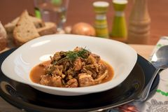 Bigos - traditional Polish meat and cabbage meal Stock Images