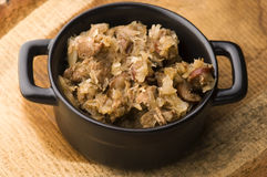 Bigos - traditional polish sauerkraut Royalty Free Stock Photo