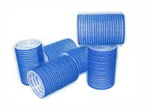 Bigoudi de cheveu bleu Images stock