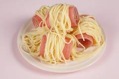 Bigoudis de la cortina y de los espaguetis Fotografía de archivo libre de regalías