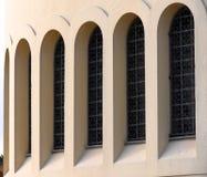 Bigs windows at arch Royalty Free Stock Photo