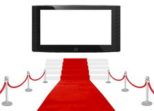 bigscreen地毯红色 库存照片