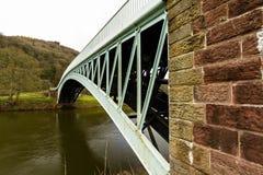 Bigsweir Bridge, beautiful single span iron bridge over the Rive Stock Images
