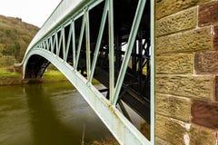Bigsweir Bridge, beautiful single span iron bridge over the Rive Royalty Free Stock Photos