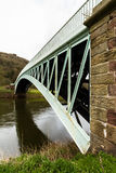 Bigsweir Bridge, beautiful single span iron bridge over the Rive Royalty Free Stock Image