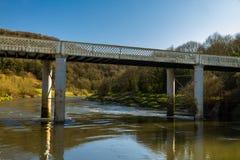 Bigsweir Bridge, beautiful single span iron bridge over the Rive Stock Photography