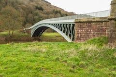 Bigsweir Bridge, beautiful single span iron bridge over the Rive Royalty Free Stock Images