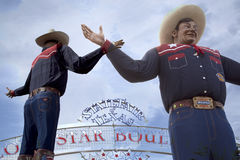 Bigtex at State Fair Texas. Dallas, USA background stock photography