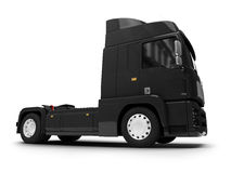 Bigtruck isolated black front view Stock Image