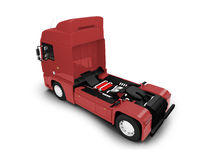 Bigtruck isolated red back view Royalty Free Stock Photos