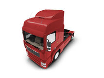 Bigtruck isolated red front view Stock Photo