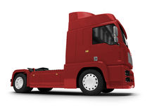 Bigtruck isolated red front view Royalty Free Stock Image