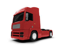 Bigtruck isolated red front view Stock Image