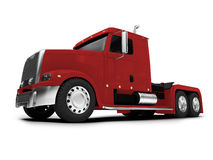 Bigtruck isolated red front view Stock Photography
