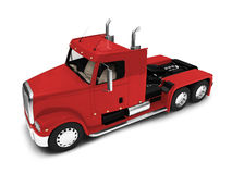 Bigtruck isolated red front view Royalty Free Stock Images
