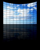 BigTV Panel. Wide TV screen with clouds Royalty Free Stock Image