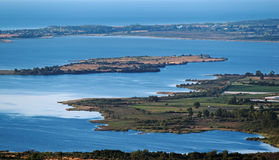 Biguglia盐水湖在可西嘉岛 免版税库存照片