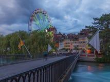 Bigwheel stad av Thun schweizare Royaltyfri Fotografi